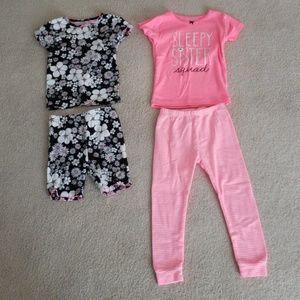 Carter's Toddler Girl 2T 4 Piece PJ Set